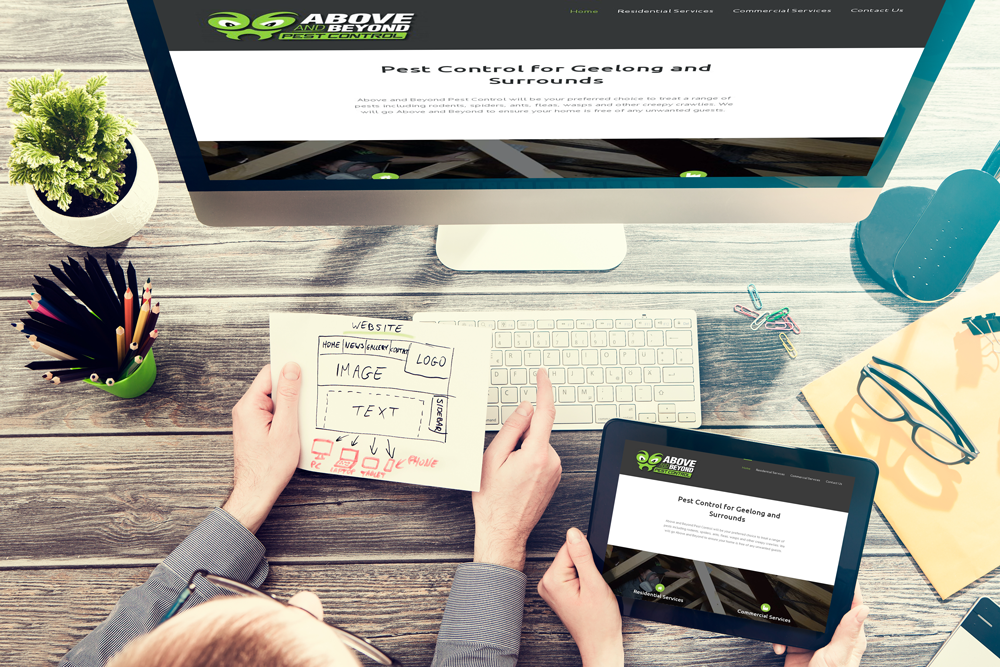 Above and Beyond Pest Control Website by Ballarat Web Design